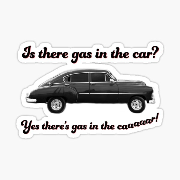 Steely Dan Kid Charlemagne Gas in the Car Sticker