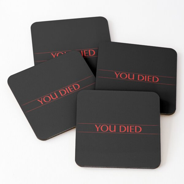 Demon's Souls Remake - You Died Coasters (Set of 4)