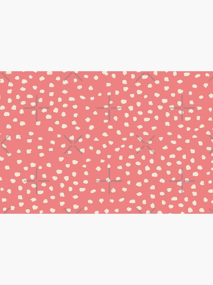 Buttercream Dalmatian Dots on Burnt Coral by ebozzastudio