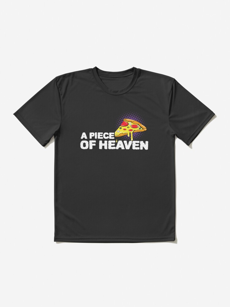 Alternate view of A piece of pizza design Active T-Shirt