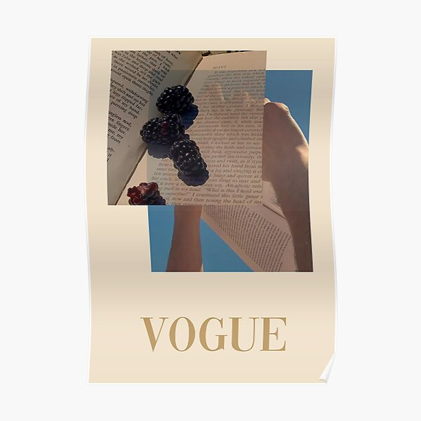 """""""VOGUE"""" Reading Poster Poster"""