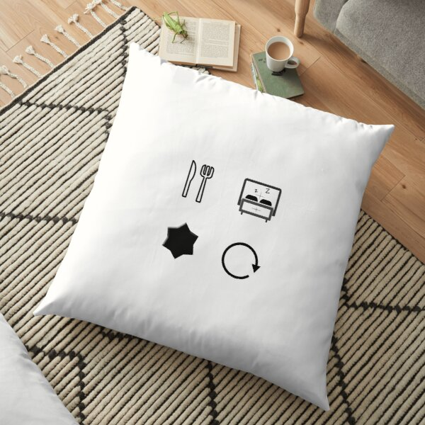 Comer   Dormir   Pelea   Repetir   Camiseta clásica Cojines de suelo