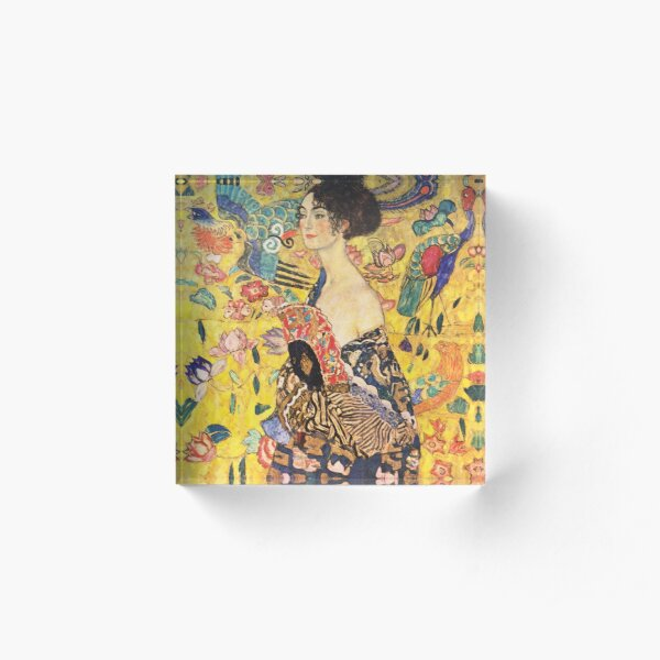Gustav Klimt - Lady with a Fan  Acrylic Block
