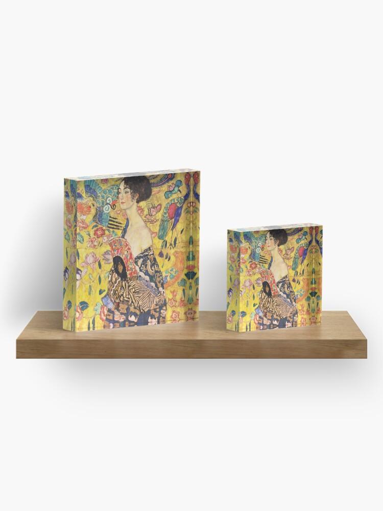 Alternate view of Gustav Klimt - Lady with a Fan  Acrylic Block