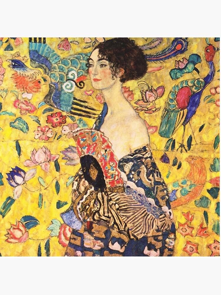 Gustav Klimt - Lady with a Fan  by DejaVuStudio