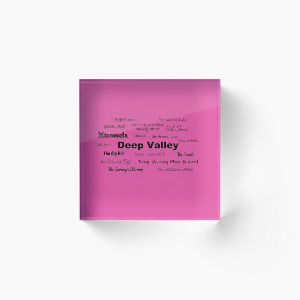 Places of Deep Valley - Betsy-Tacy Acrylic Block