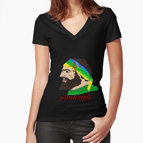 Kabyle berbere amazigh T-ishrt bag sacados, phone T-shirt moulant col V