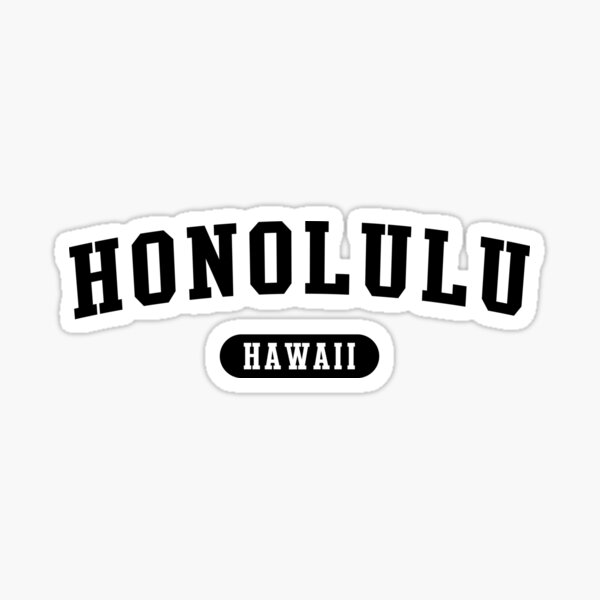 Honolulu, HI Sticker