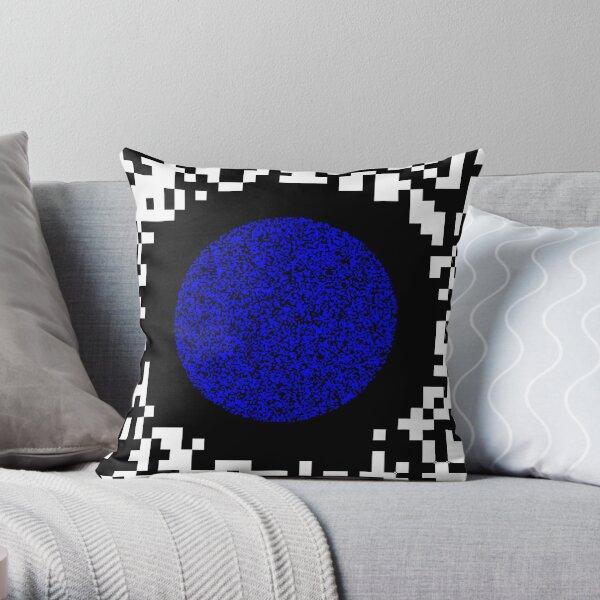 Optical illusion abstract art Throw Pillow