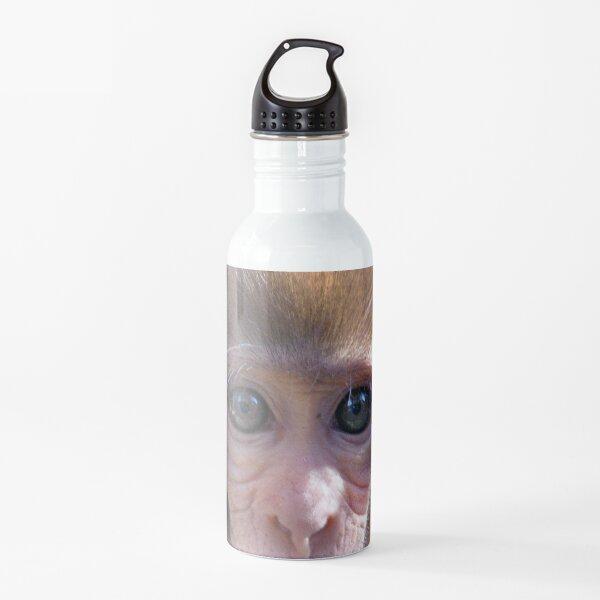 Watercolor Monkey, Rhesus Monkey 03, Silver River, Florida Water Bottle