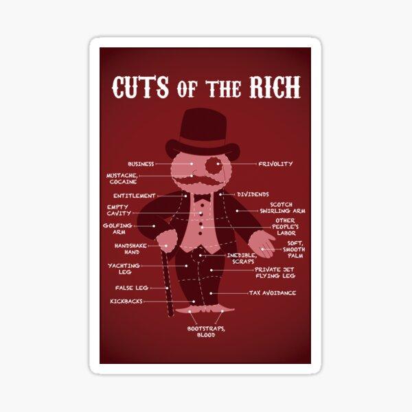 Eat the Rich Meat Cuts Sticker