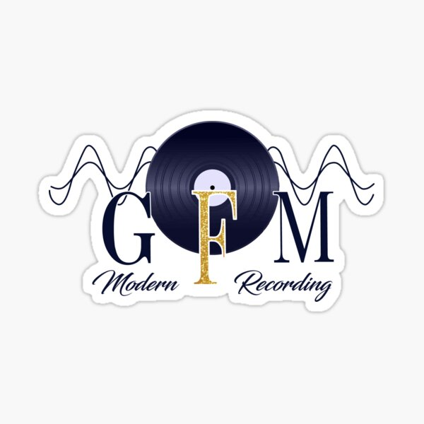 GFM Record Logo Big Sticker