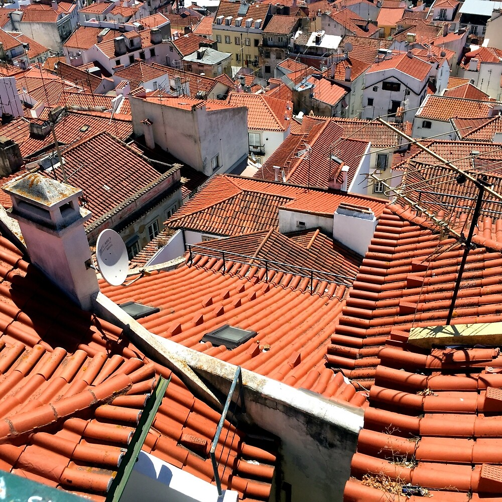 Rooftops in Lisbon by Colin Leal