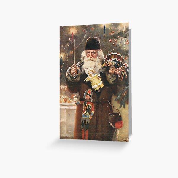 Santa Vintage Christmas Postcard  Greeting Card