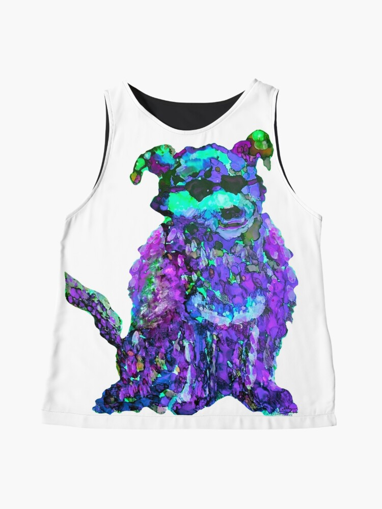 Alternate view of Cool Dog Purple Abstract  Sleeveless Top