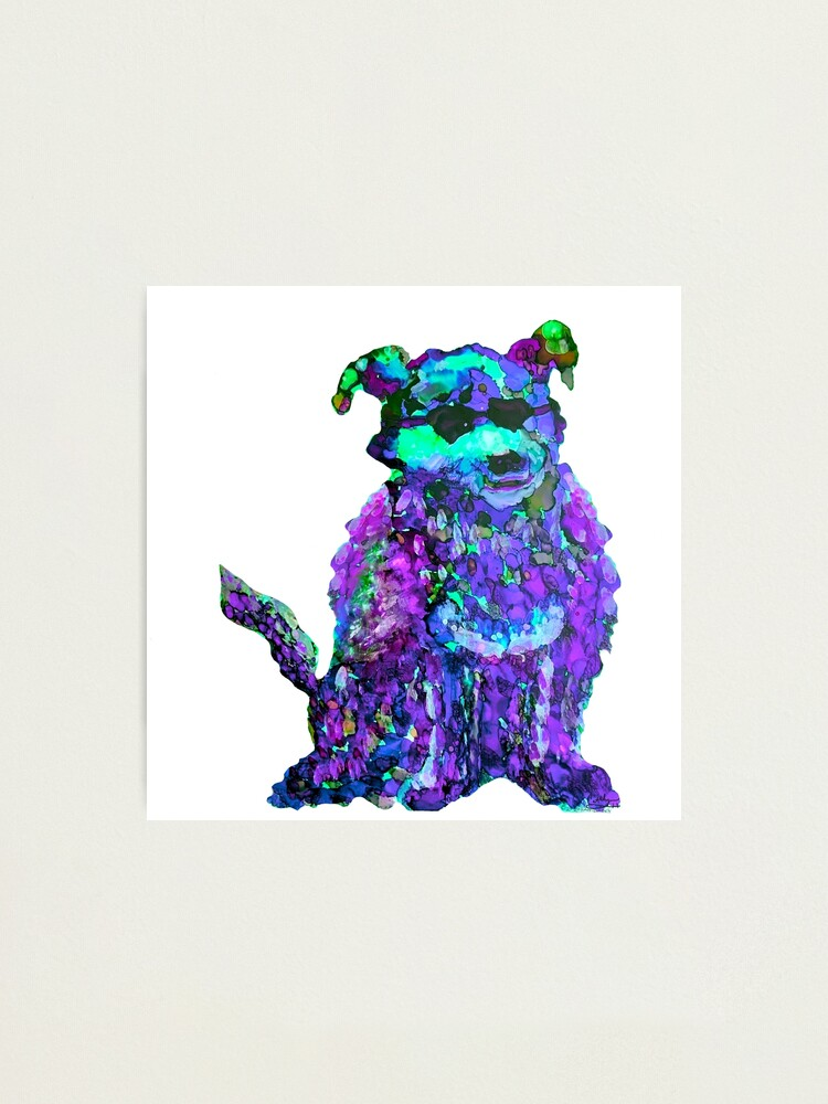 Alternate view of Cool Dog Purple Abstract  Photographic Print