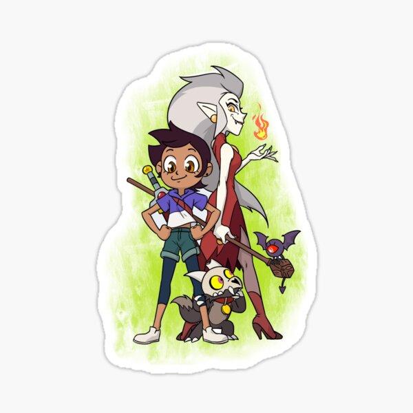 Eda King and Luz (The owl house) Sticker