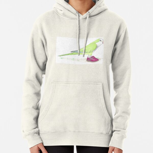 Quaker parrot in Mary Janes Pullover Hoodie