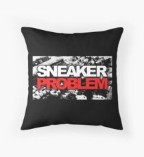 Sneaker Problem Throw Pillow