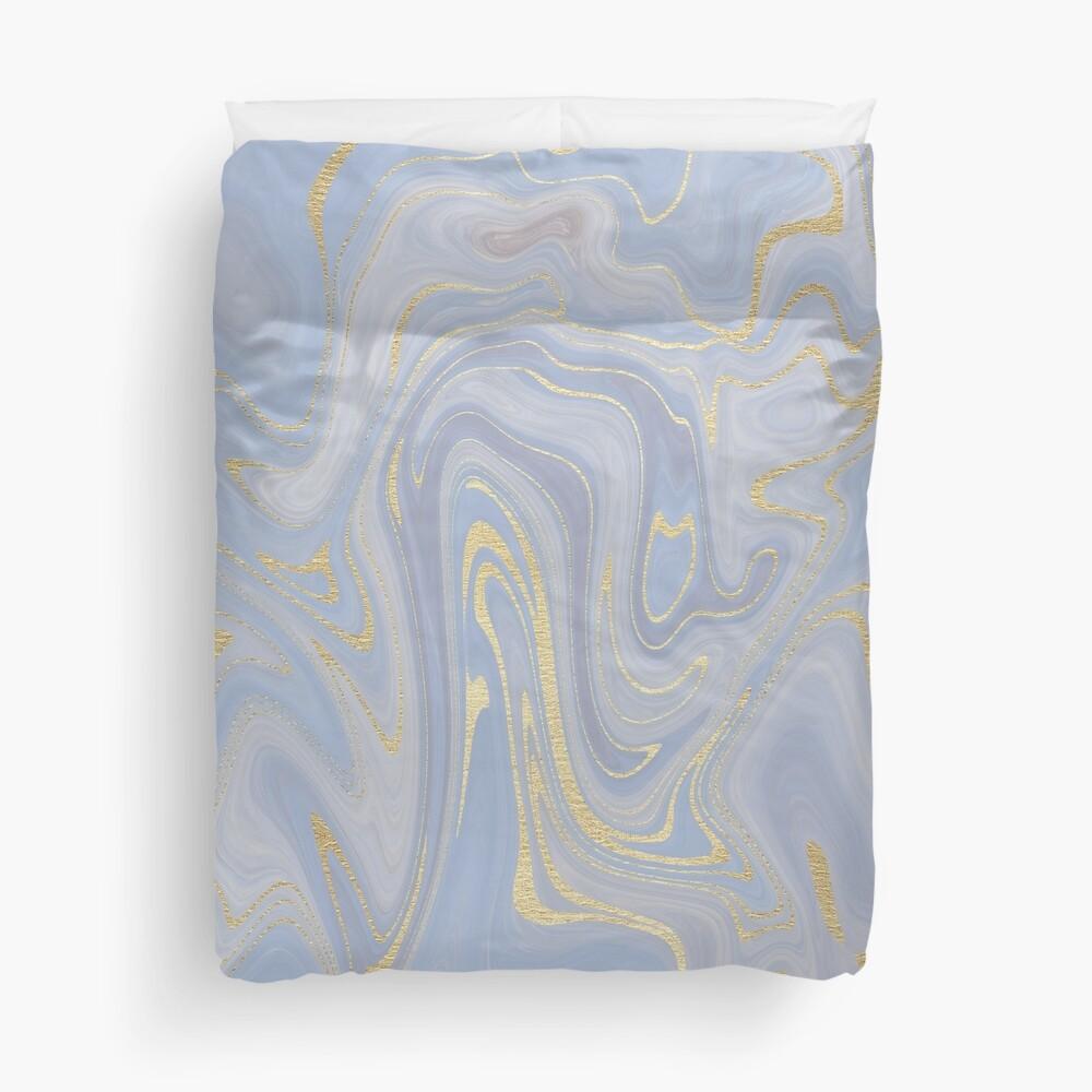 Blue Marble Swirls  Duvet Cover
