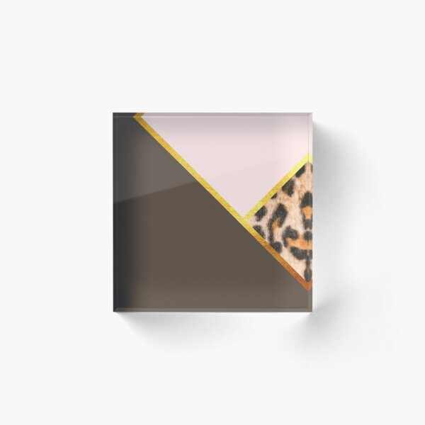 Abstract leopard print, color blocking Acrylic Block