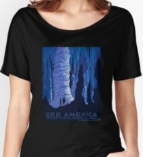 'See America' Vintage Travel Poster (Reproduction) Women's Relaxed Fit T-Shirt