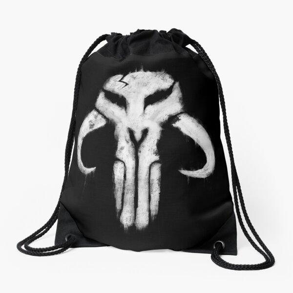 Mando Skull Drawstring Bag