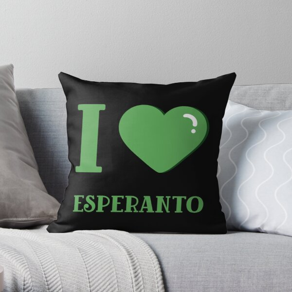 I love Esperanto Throw Pillow