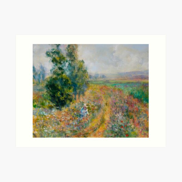 """Impressionist Painting-""""Sally"""" by Mary Pat  Forrest-Fields of Flowers Art Print"""