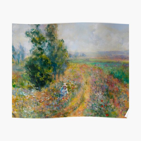 """Impressionist Painting-""""Sally"""" by Mary Pat  Forrest-Fields of Flowers Poster"""