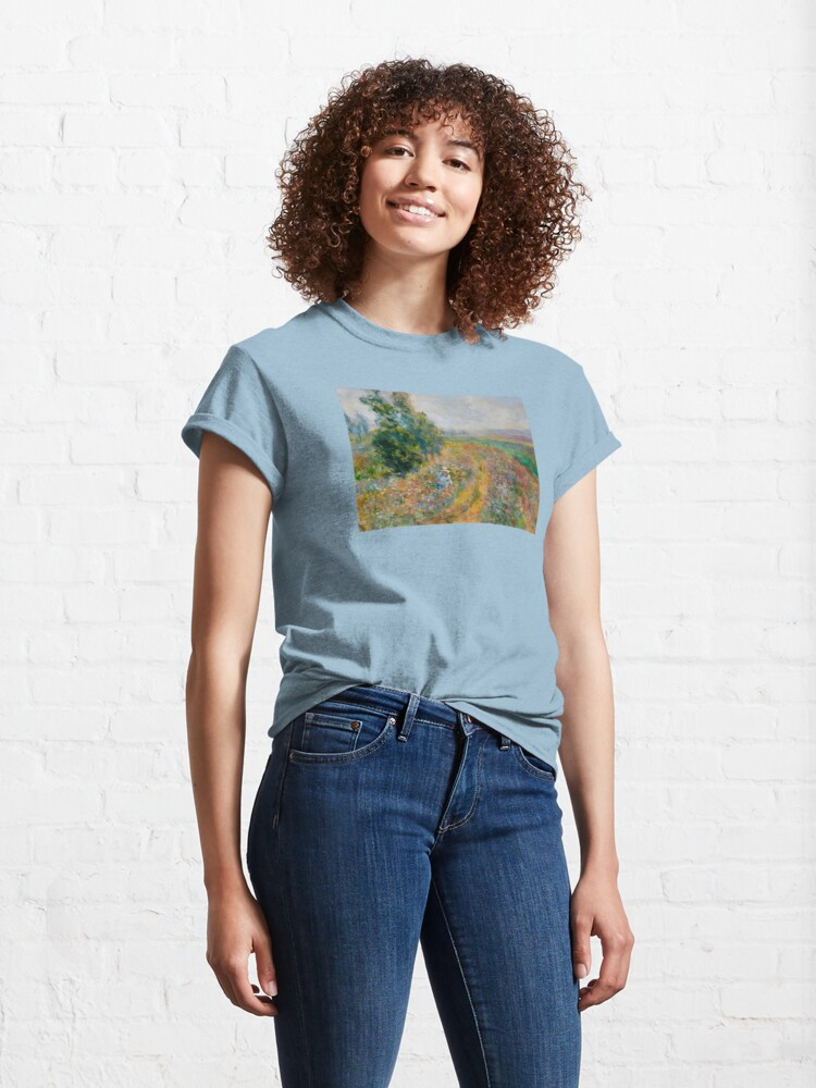 """Alternate view of Impressionist Painting-""""Sally"""" by Mary Pat  Forrest-Fields of Flowers Classic T-Shirt"""