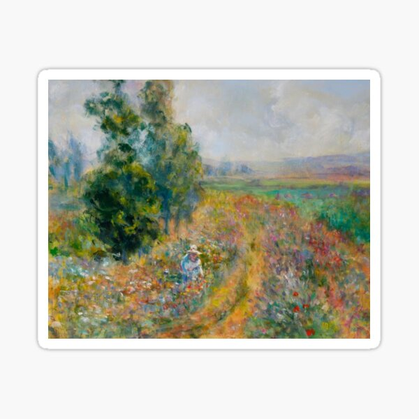 """Impressionist Painting-""""Sally"""" by Mary Pat  Forrest-Fields of Flowers Sticker"""