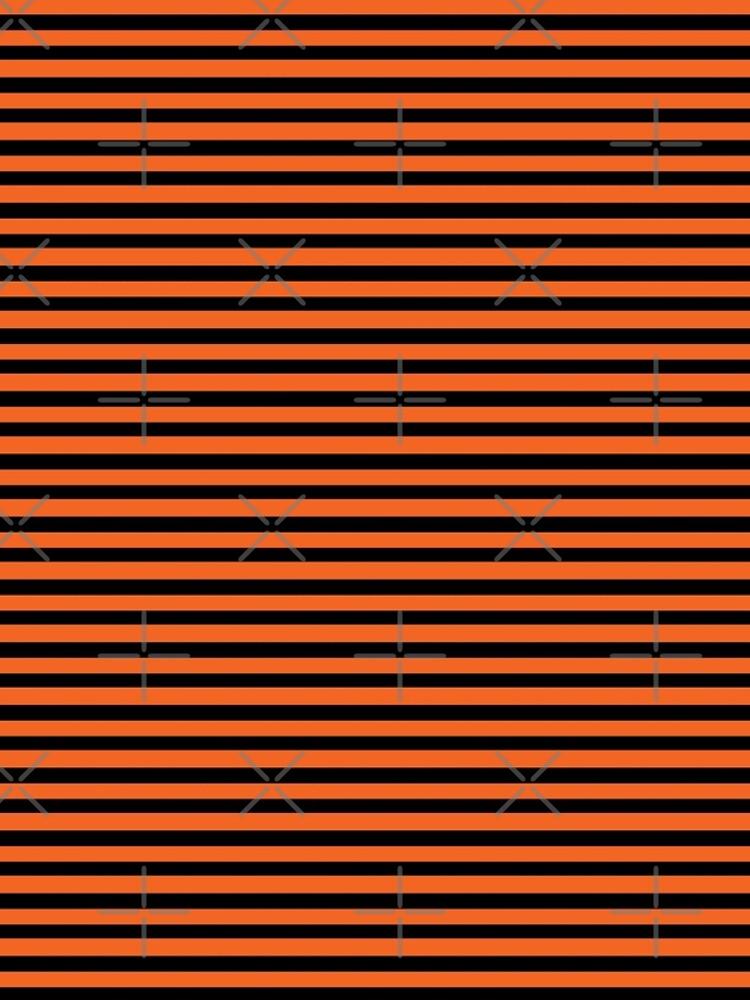 Halloween Stripes - Black and Orange - Classic striped pattern by Cecca Designs by Cecca-Designs