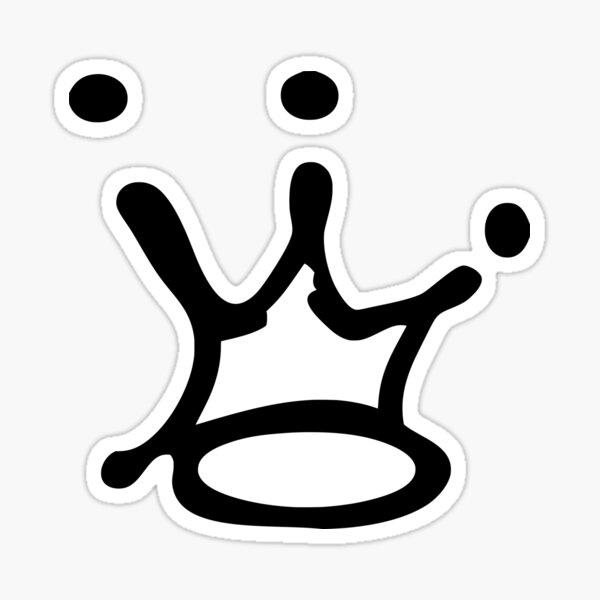 Graffiti Crown   Black Sticker