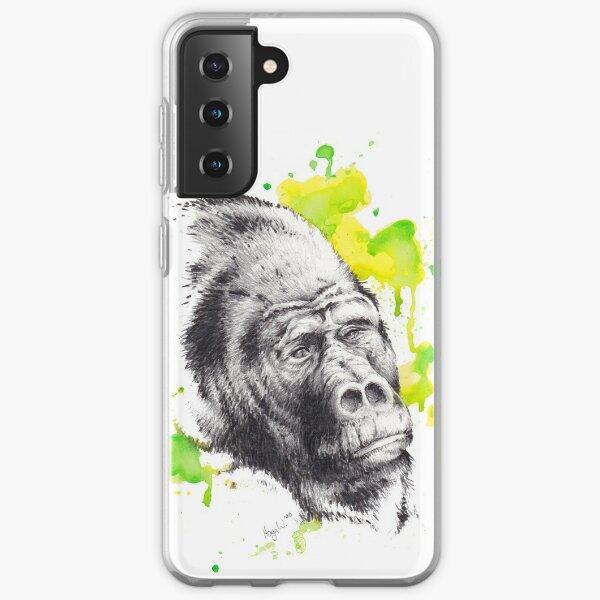 Gorilla Portrait Samsung Galaxy Flexible Hülle