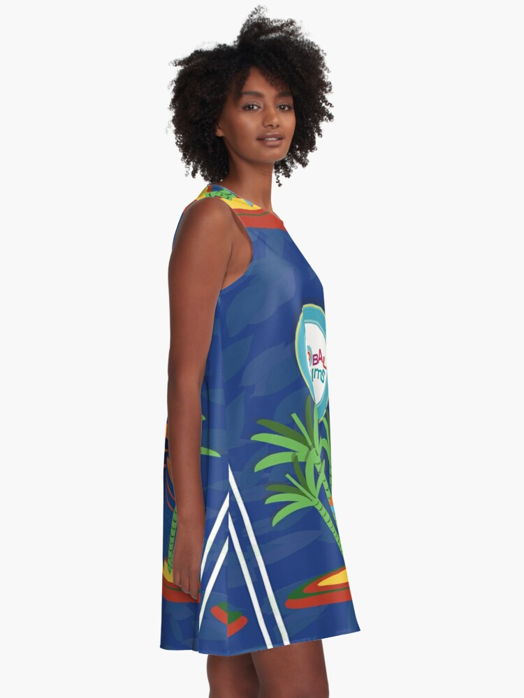 Alternate view of  Gobal Riddims (6) A-Line Dress