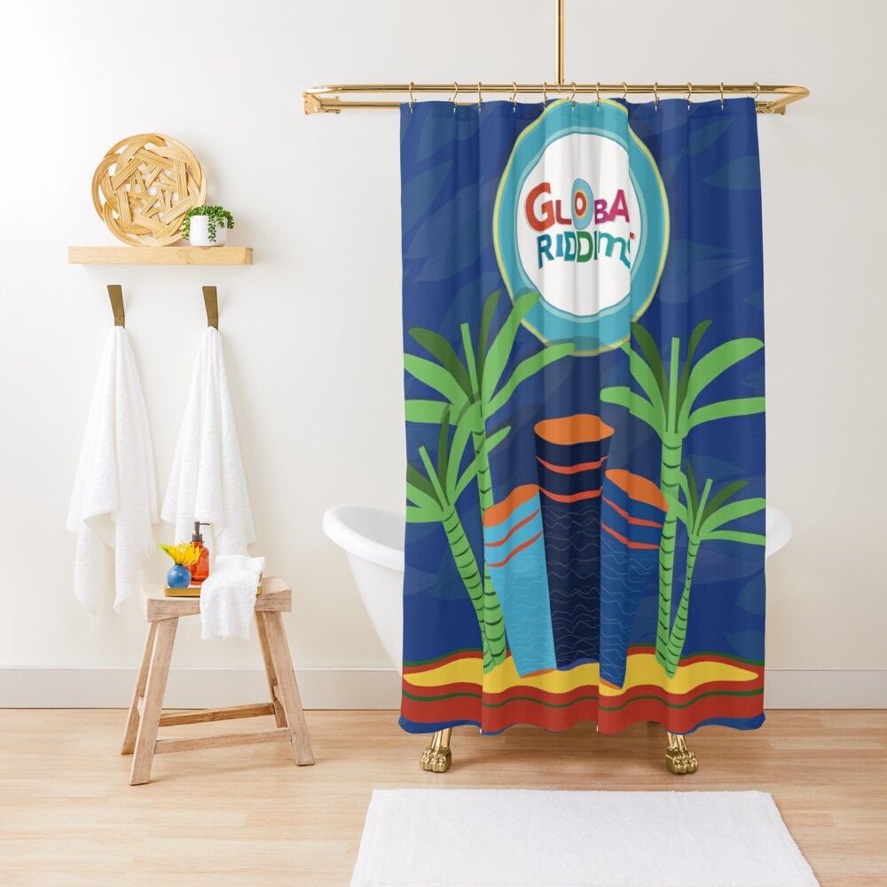 Gobal Riddims (6) Shower Curtain