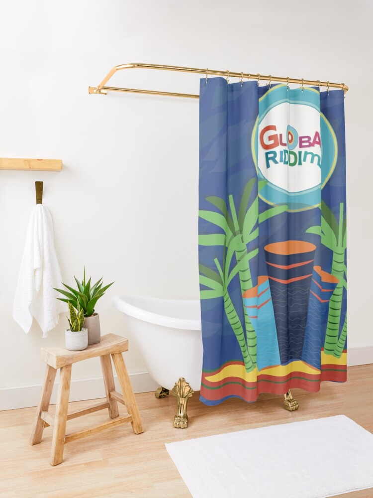 Alternate view of  Gobal Riddims (6) Shower Curtain