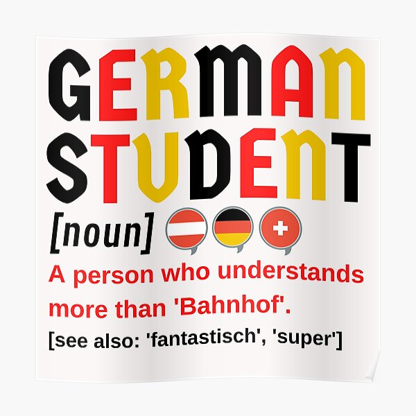 German Student Funny Definition Poster