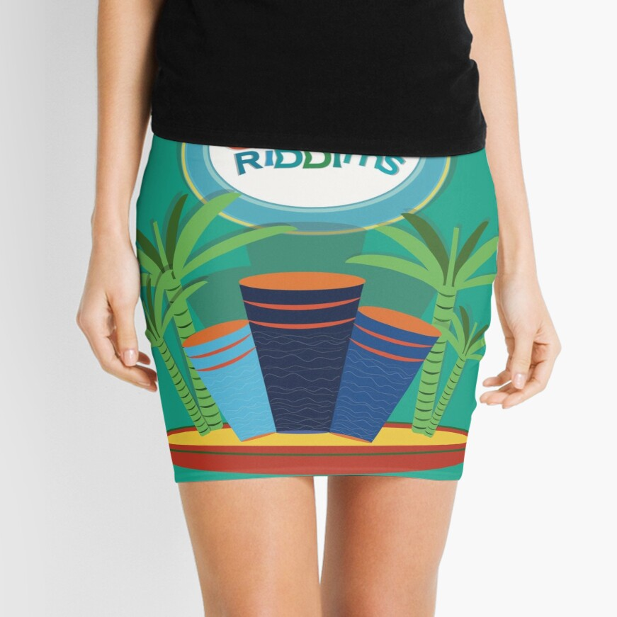 Gobal Riddims (8) Mini Skirt