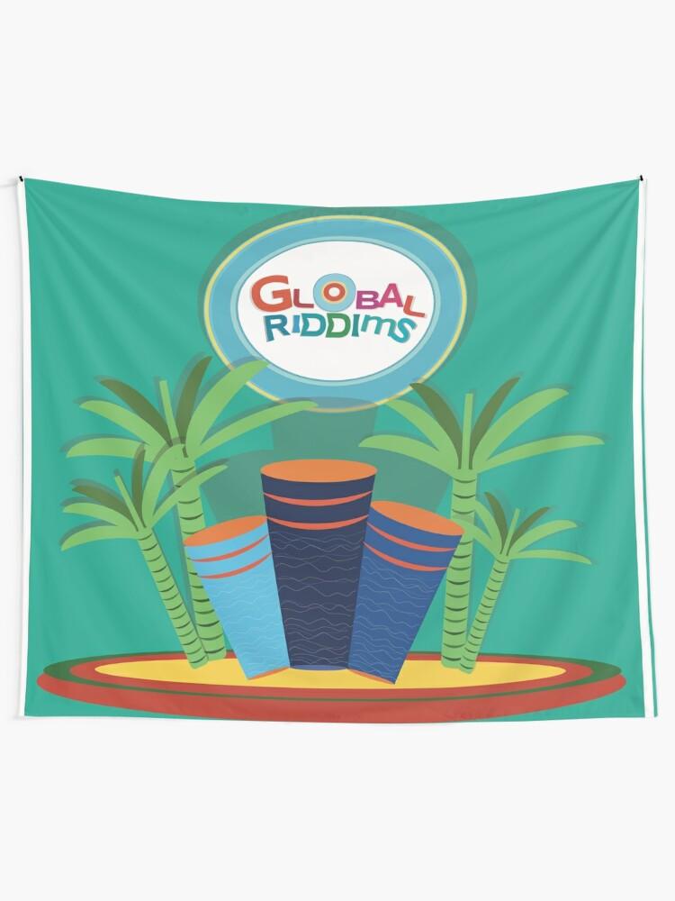 Alternate view of Gobal Riddims (8) Tapestry