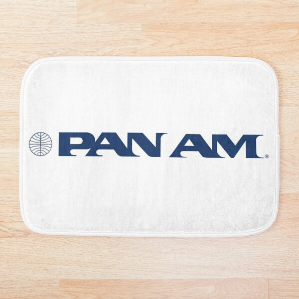 Pan Am Stylized Wordmark with Globe Bath Mat