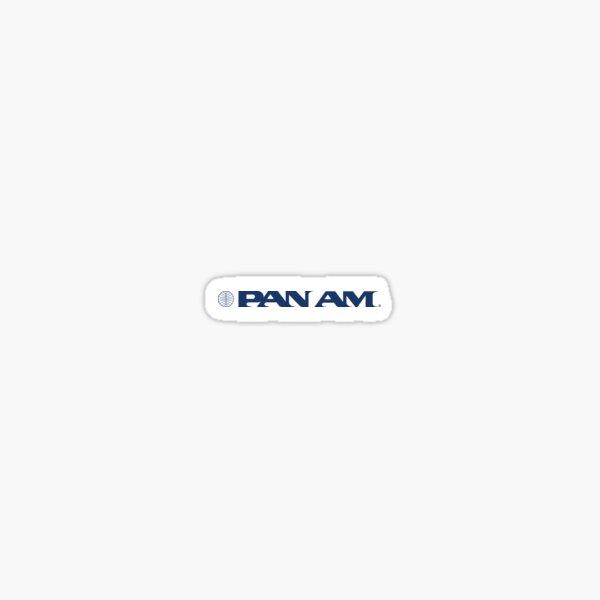 Pan Am Stylized Wordmark with Globe Sticker