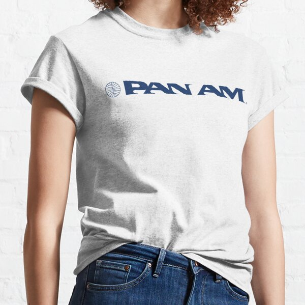 Pan Am Stylized Wordmark with Globe Classic T-Shirt