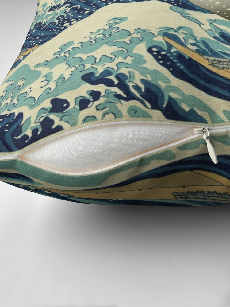 Alternate view of The Great Wave off Kanagawa Throw Pillow