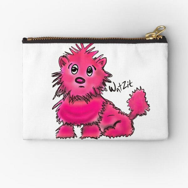 WatZit Enchanted Mythical Creature Pink Zipper Pouch
