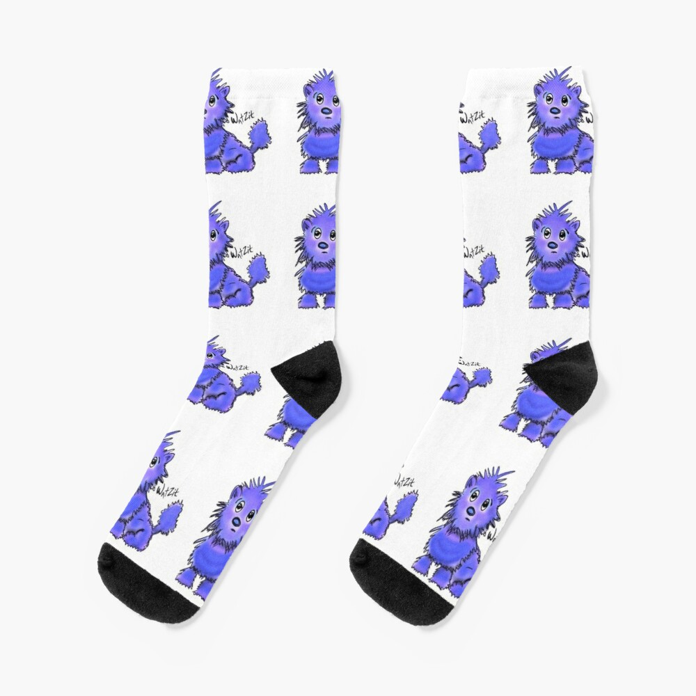Copy of WatZit Enchanted Mythical Creature Blue Socks
