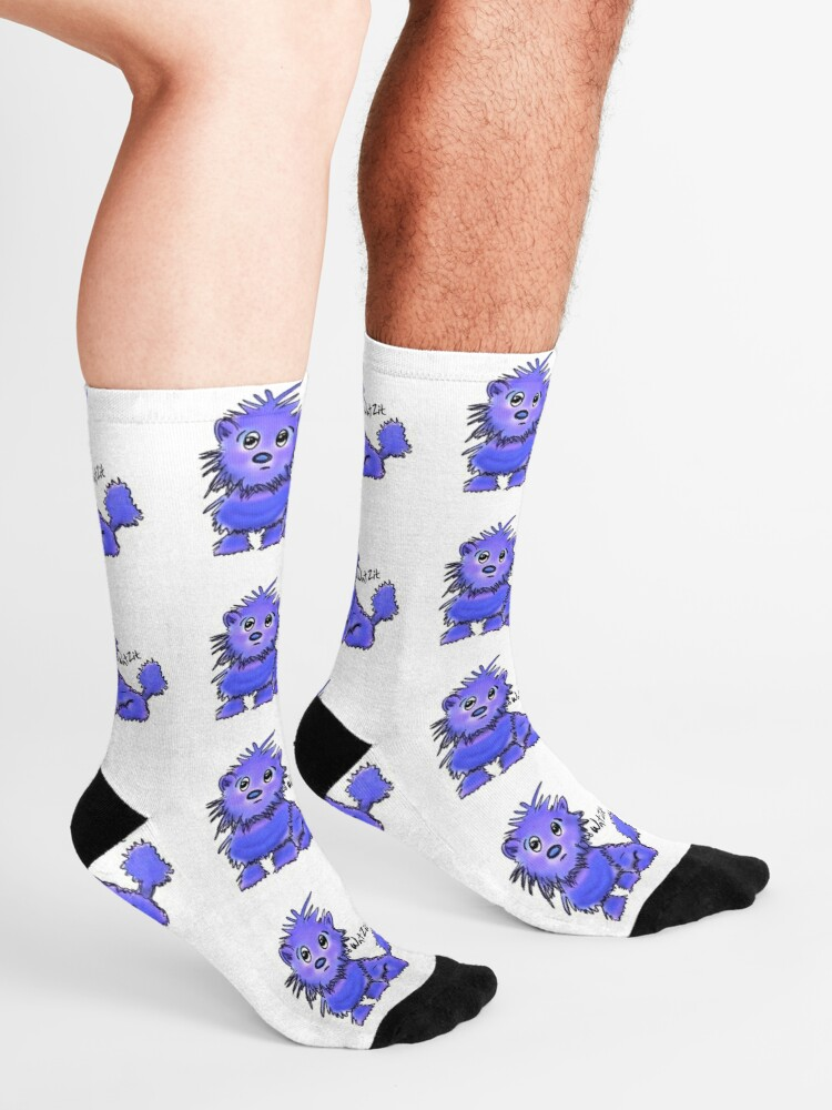 Alternate view of Copy of WatZit Enchanted Mythical Creature Blue Socks