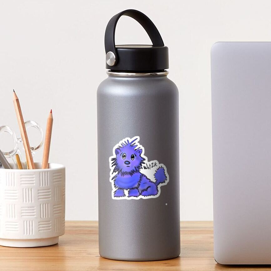 Copy of WatZit Enchanted Mythical Creature Blue Sticker