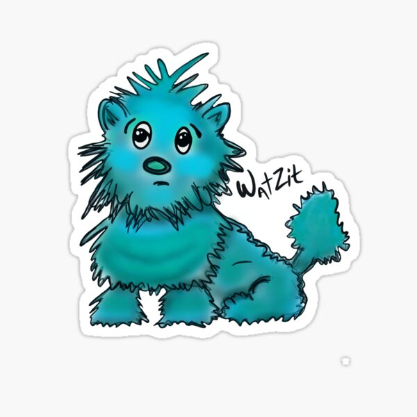 WatZit Enchanted Mythical Creature Teal Sticker